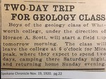 Two-Day Trip for Geology Class