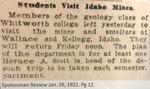 Students Visit Idaho Mines