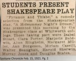 Students Present Shakespeare Play