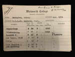 Walter Beaughan's Report Card