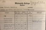Beatrice Warner's Report Card