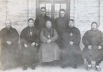 Bp. Sun Dezhen with visiting bishops of Fenyang and Hongtong