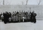 Group photo of orphan girls and old ladies of Hanzhuang mission