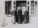 Fr. André Boland, Bp. Paul Yu Pin, Fr. Lucas Tchang, vicar general, and Fr. Raymond de Jaegher.