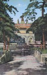 Postcard of the entrance to Azure Clouds Temple