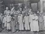 Parish school children with their teacher and Fr. Léon Pardoen