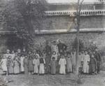 Fr. Léon Pardoen and Sunday school children