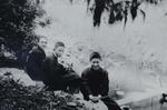 Fr. Léon Pardoen and two seminarians