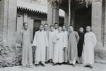 Fr. Michel Keymolen and major seminarians