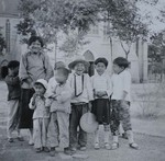 Children in front of the Xuanhua cathedral
