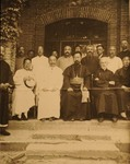 Bp. Pierre Tch'eng and Chinese priest