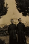 Bp. Joseph Tchang and the faculty of the apostolic school