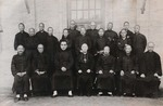 Father Paul Yu Pin (Yu Bin), national director of Catholic Action, with bishop and priests of Anguo