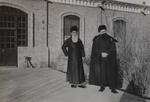 Minor seminarians in winter attire