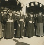 Bishop Joseph Tchang with two European bishops