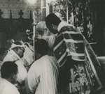 Bishop Melchior Souen anointing his successor Bishop Jean-Batiste Wang in Beitang cathedral in Beijing