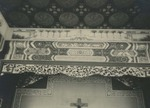 Above altar decorations in the chapel at the Xuanhua procurement house in Beijing 3