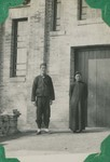 Fr. Jean Wen and a Chinese Catholic in front of the Huai An chapel