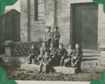 Small children in front of the Huai An chapel