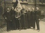 Fr. Vincent Lebbe with two Belgium priests and four Chinese students