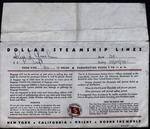 Dollar Steamship Lines Envelope by Dollar Steamship Lines
