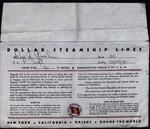 Dollar Steamship Lines Envelope