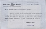 Letter from Swiss Consul General Shanghai to American Catholic Missionaries in Peking.