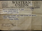 Telegram from Fr. Emanuel to Fr. Leonard Amrhein