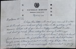 Letter from Fr. Leonard Amrhein to Catherine Amrhein, Al, and Tom by Fr. Leonard Amrhein C.P.