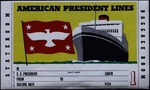 Sailing ticket on American President Lines by American President Lines