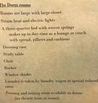 The Dorm Rooms