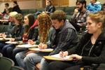 Students at symposium lecture