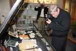 Dr. Anthony Clark and Fr. Rob Carbonneau viewing the exhibit