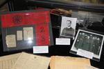 An exhibit case on Fr. Leonard Amrhein