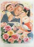 Liu Shaoqi with children and birds