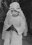 Chinese Girl During First Holy Communion