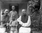 Portrait of Fr. Anthony Cotta, MM, and Fr. Vincent Lebbe with Chinese Man and Boy