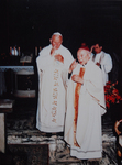 Cardinal Gong Pinmei with Pope John Paul II