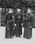 (Bishop) Cardinal Gong Pinmei with two Jesuits by N/A N/A