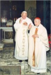 Cardinal Gong Pinmei with Pope John-Paul II