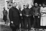 Bishop James A. Walsh with Christians at Luoding