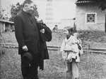 Bishop James A. Walsh, MM, with a Young Girl Named Rose