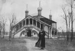 Metropolitan Innokenty in front of Holy Martyrs Church