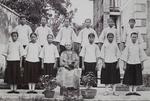 Miss Georgina Maclagan with First Middle School Class