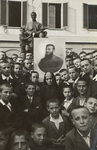 """Mama Rosa"" and Group with Photograph of St. Callisto Caravario, SDB"