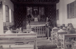 """Bishop Versiglia Teaching Catechism at the Orphanage Chapel, """"Hos-ai"""""""