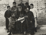 Bishop Versiglia Teaches Catechism to Chinese Orphans