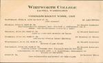 Commencement Program 1907