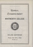 Commencement Program 1936 by Whitworth University