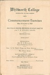 Commencement Program 1920 by Whitworth University